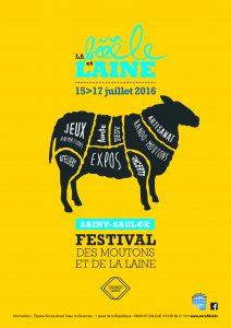 affiche festival Bêêêêle et Laine
