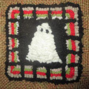 rug hooking - carré fantome